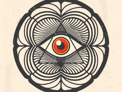The All-Seeing Eye illustrator logo distressed design adobe illustrator vector psychedelic art psychedelic