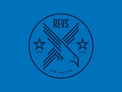 New England Revolution Logo Concept sports logo sports branding sports design branding adobe vector design adobe illustrator badge design badge logo