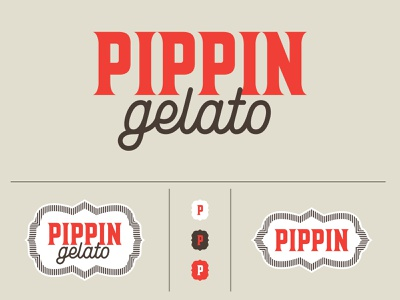 Pippin Gelato Branding typography logo branding adobe vector design adobe illustrator icecream gelato