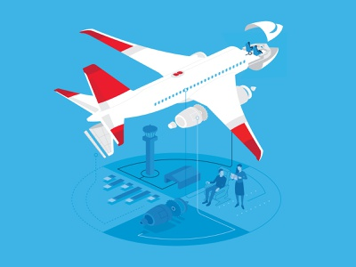 Gogo Inflight Internet Illustrations airline airplane flat design illustration adobe design adobe illustrator vector illustrator gogo