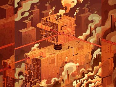 Adobe Illustrator Splash Illustration apple keynote apple sci-fi isometric illustration design vector adobe illustrator adobe