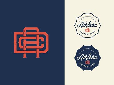 Athletic Design Club Logo sports design sports logo badge design badge branding logo adobe design vector adobe illustrator