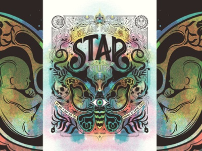 Star Stuff, Carl Sagan Poster vector screen print carl sagan psychadelic illustration adobe illustrator screenprint