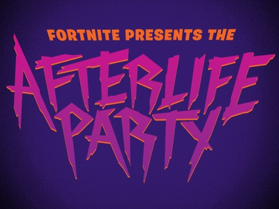 Fortnite Afterlife Party logos logo lettering vector adobe illustrator halloween logotype fortnite