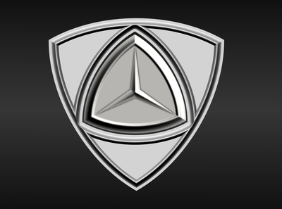 mercedes benz  logo redesign