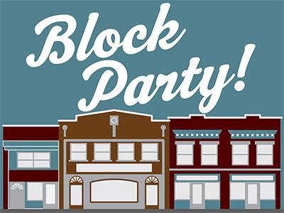 Downtown block party dribbble