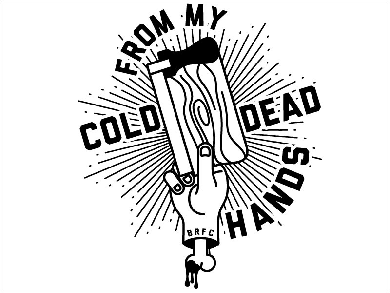 From My Cold Dead Hands screen print screen printing silkscreen illustration vector squeegee hand screenprint