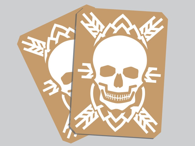 Death Card card beer wheat hops death skull vector
