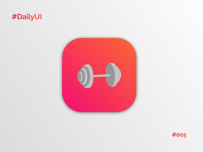Daily UI #005 - App Icon dumbbell figma iphone logo visual design brand illustration icon app fitness