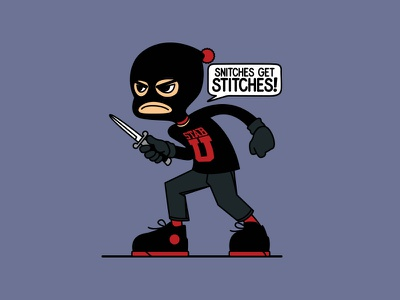 Snitches Get Stiches illustration vector