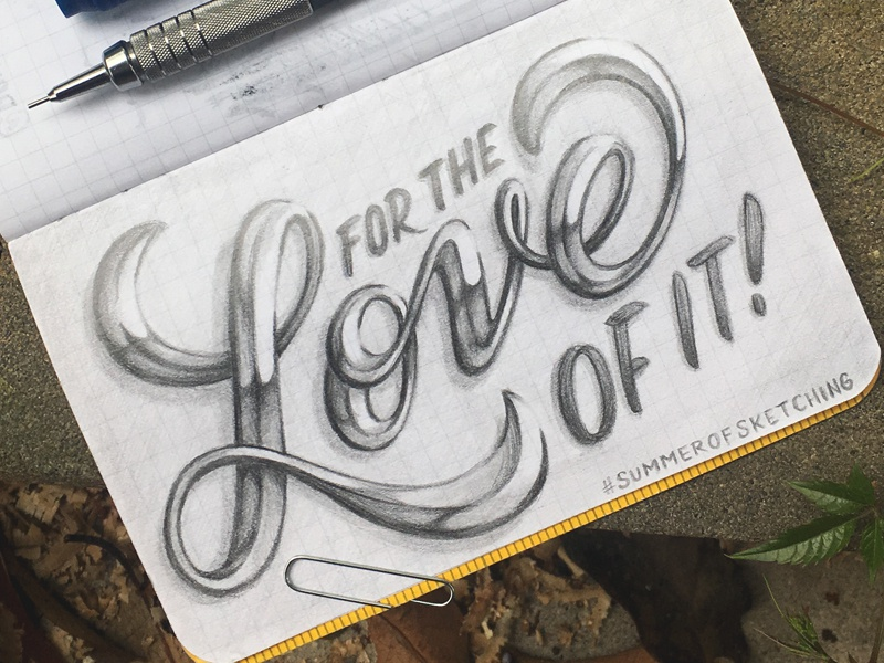 Summer of Sketching Week 2 Prompt: Why? summerofsketching handlettering lettering