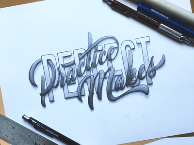 Practice Makes Perfect handlettered handtype typography handlettering lettering goodtypetuesdays