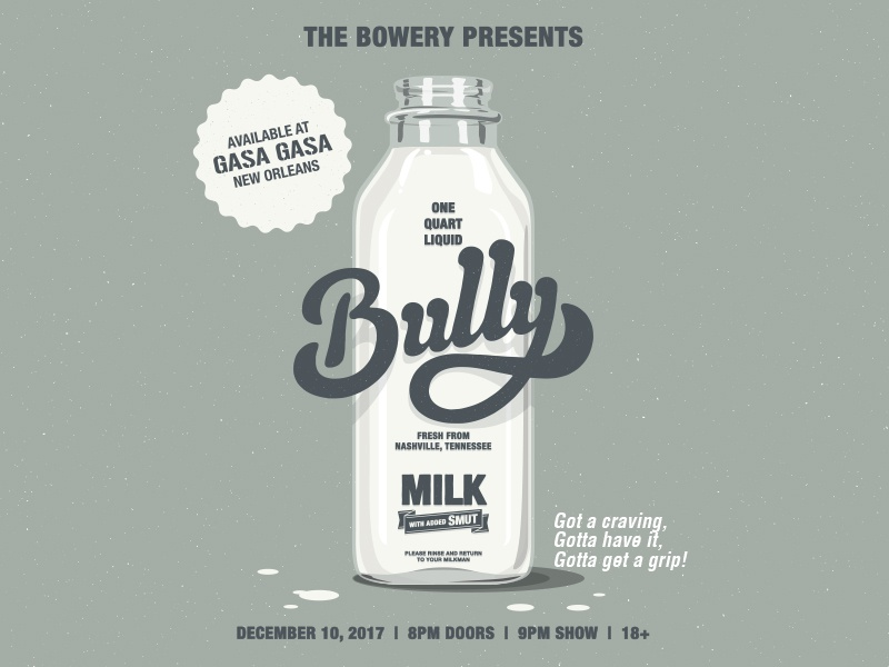Bully bands hand lettering lettering vector illustration posters gig posters