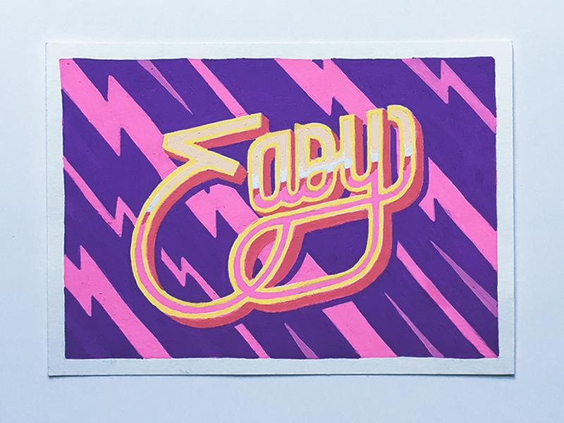 Easy posca illustration typography lettering