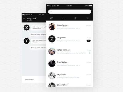 Day 003 Sketch: Chat App minimal chat chat app sketch freebie freebies 100freesketch 100daysketch 100day 100