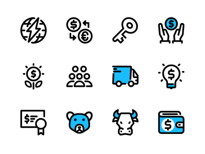 Finance & Business humble duotone design outline iconography marketing icon illustration business finance