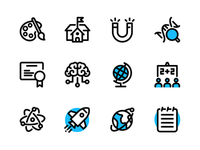 Education & Science rocket science education iconography icon