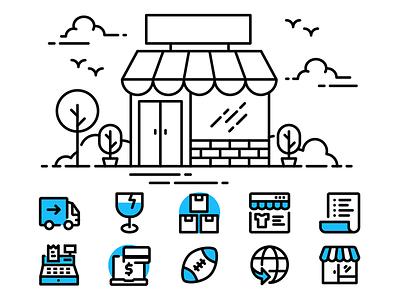 Shopping shopping illustration icon ecommerce