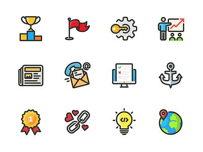 Marketing & SEO web seo marketing iconography icon