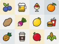 Fruits/Veg/Junk foods