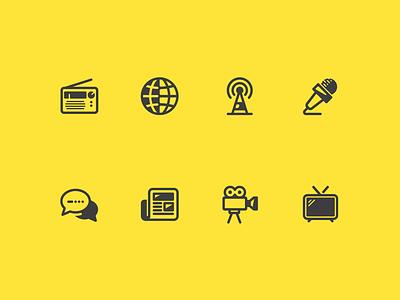 Upcoming Glyphs illustration comunication ui glyphs iconography icon