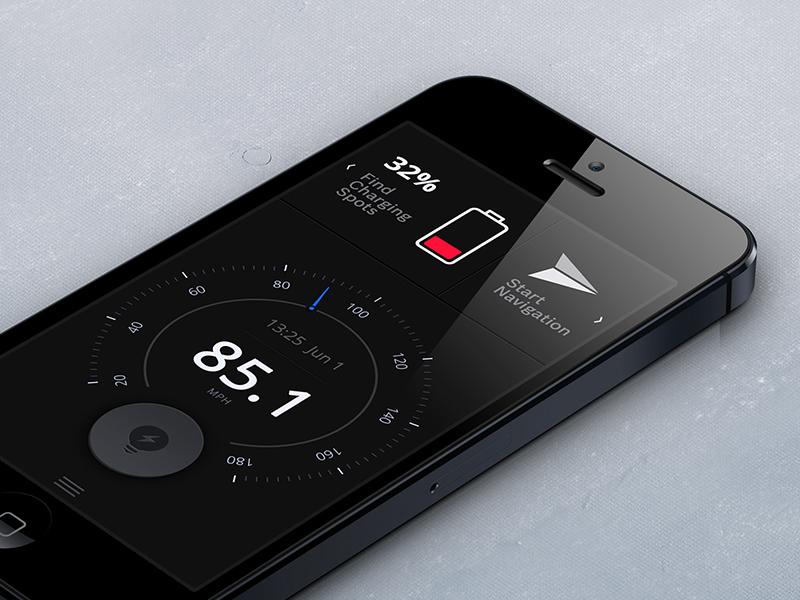 Nav app odometer speedometer nav