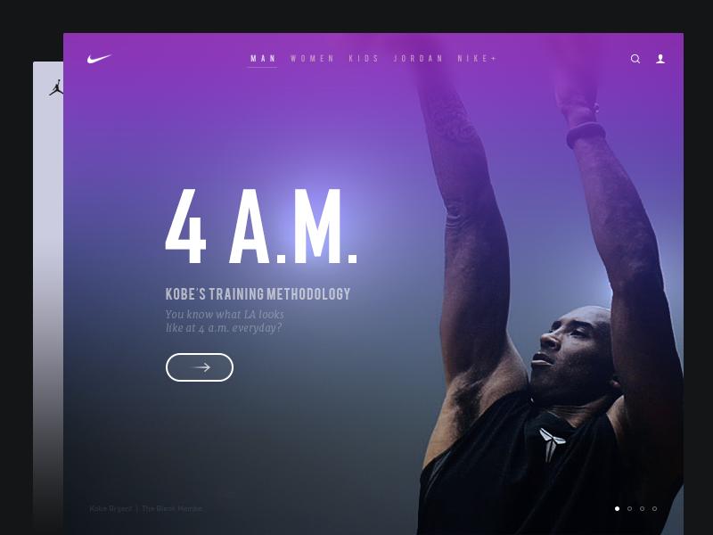 NIKE Website Redesign nike website redesign kobe bryant