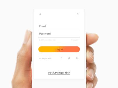 Another Peeeeeeek. hand web iphone ios register signup login