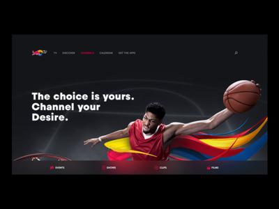 Redbull Landing Page ad web basketball page landing redbull