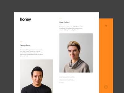 Honey Rebrand Exploration photography ppl icon deck dashboard ui web