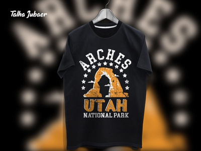 Utah National Park T Shirt Design