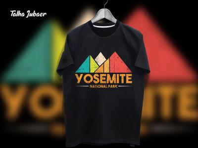 Yosemite National Park T Shirt Design
