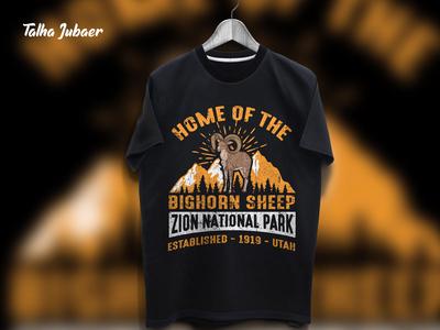 Zion National Park T Shirt Design