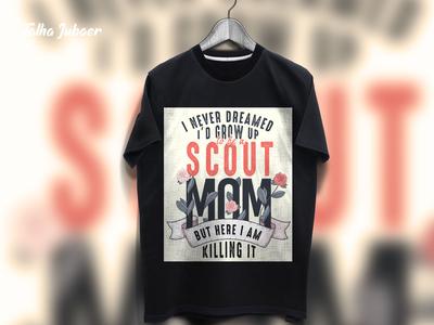 Scout Mom T-Shirt Design