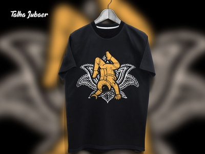 Astronaut Yoga T Shirt Design