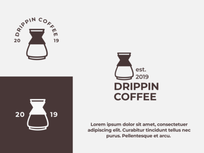 minimalist drippin coffee machine logo concept - rejected