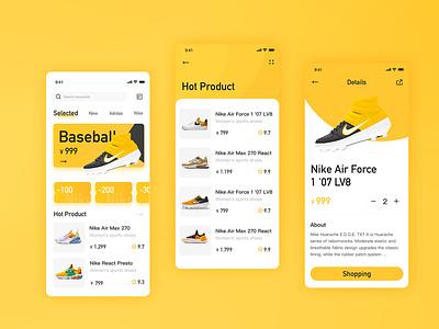 Nike App two color design app ui design app concept app ui app design