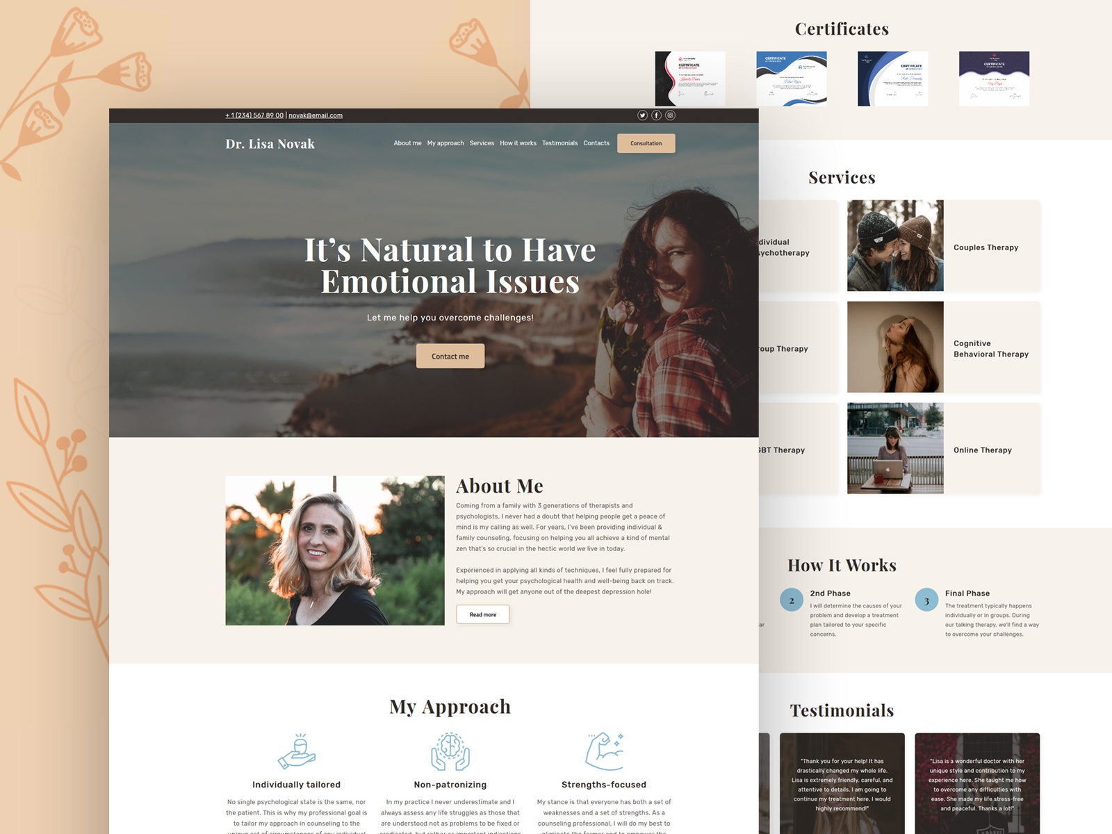 Online Therapy (Counseling) Website Template by Weblium on
