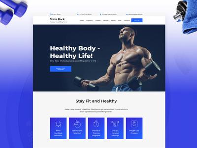 Powerlifting Trainer Website Template