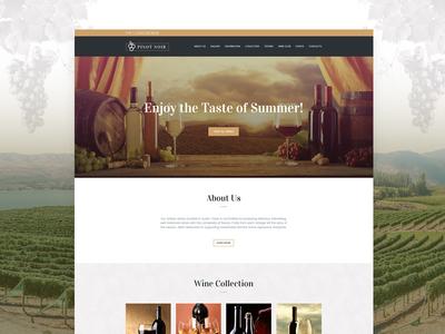 Winery Website Template | Weblium