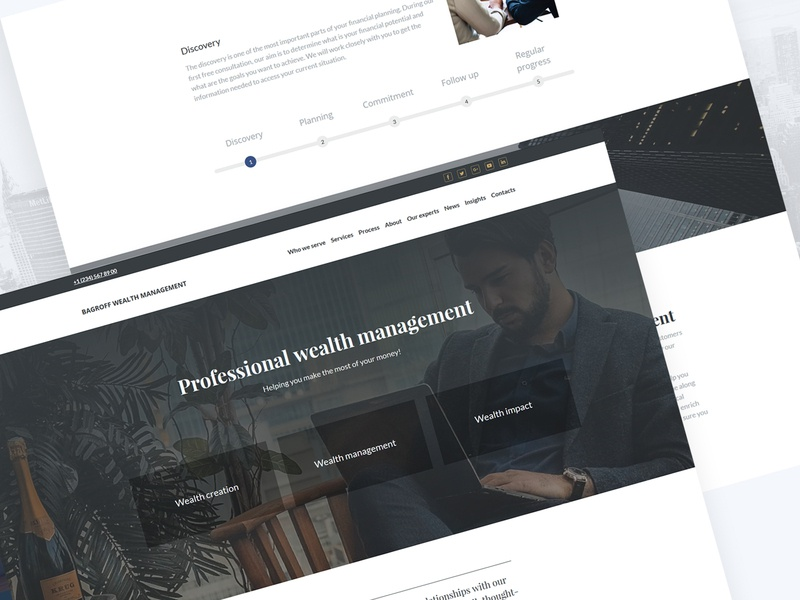 Wealth Management Website Template by Weblium on Dribbble