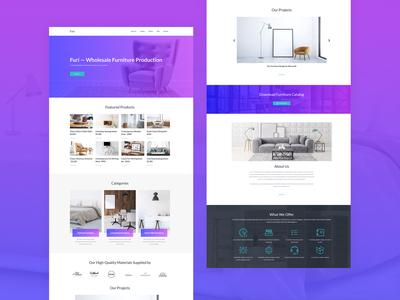 Furniture Manufacturer Website Template