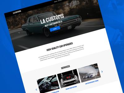 Car Tuning Website Template