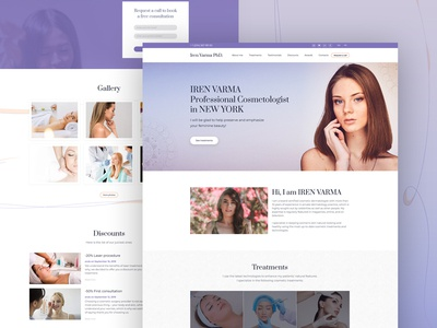 Cosmetologist Website Template