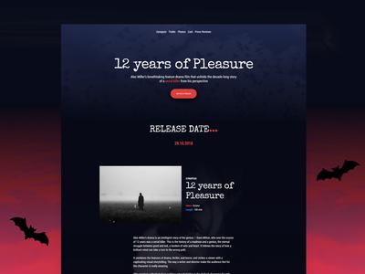 Movie Announcement Website Template