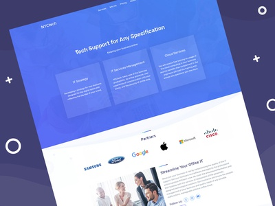 IT Services Website Template  🖥️