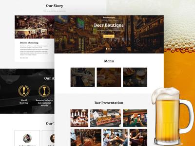 Beer Pub Website Template 🍺