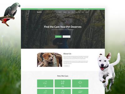Pet Care Website Template