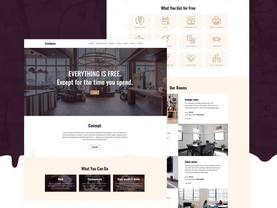 Anticafe Website Template