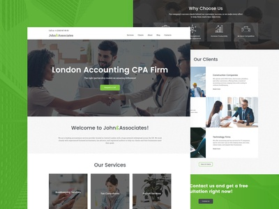 Accounting Service Website Template
